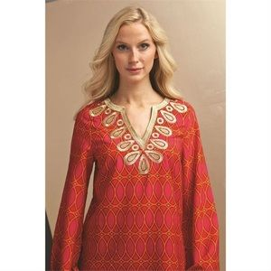 Mud Pie Corinne Embroidered Tunic Top